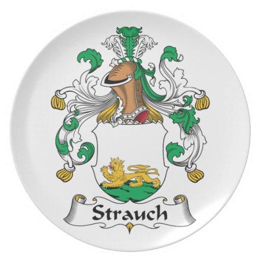 Crête de famille de Strauch Assiettes Pour Soirée