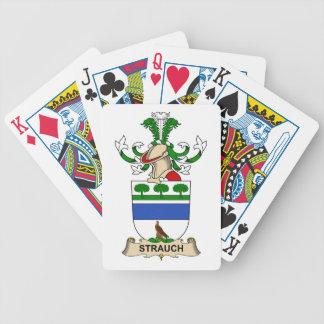 Crête de famille de Strauch Jeux De Cartes