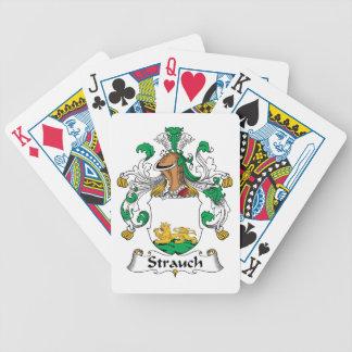 Crête de famille de Strauch Jeux De Poker