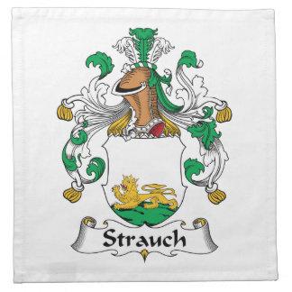 Crête de famille de Strauch Serviette En Tissu
