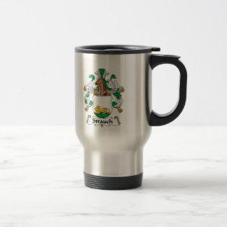 Crête de famille de Strauch Mug De Voyage En Acier Inoxydable