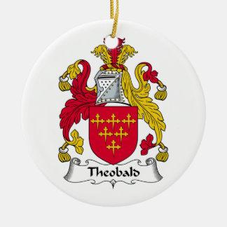 Crête de famille de Theobald Ornement Rond En Céramique
