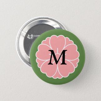 Crête de fleurs de cerisier de Sakura : Monogramme Badge