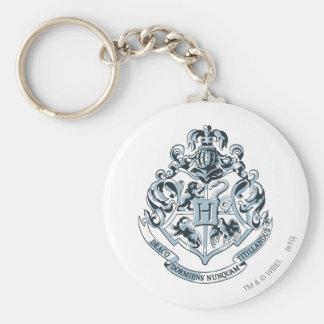 Crête de Harry Potter   Hogwarts - bleu Porte-clé Rond