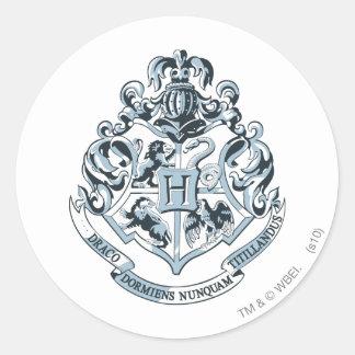 Crête de Harry Potter | Hogwarts - bleu Sticker Rond