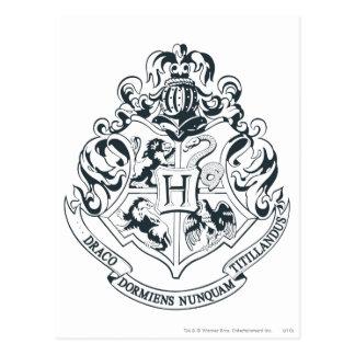 Crête de Harry Potter | Hogwarts - noire et Carte Postale