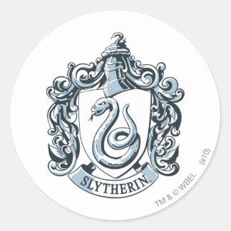 Crête de Harry Potter | Slytherin - bleu glacier Sticker Rond