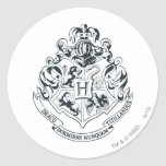 Crête de Hogwarts Autocollants Ronds