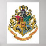 Crête de Hogwarts polychrome Affiche