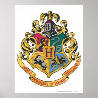Crête de Hogwarts polychrome Poster