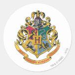 Crête de Hogwarts polychrome Sticker Rond