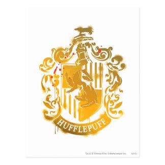Crête de Hufflepuff - éclaboussée Carte Postale