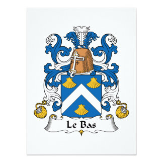 Crête de Le Bas Family Carton D'invitation 16,51 Cm X 22,22 Cm