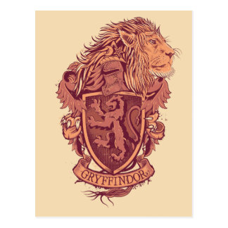 Crête de lion de Harry Potter | Gryffindor Carte Postale