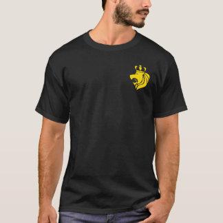 Crête de reggae de Rasta avec la poche couronnée T-shirt