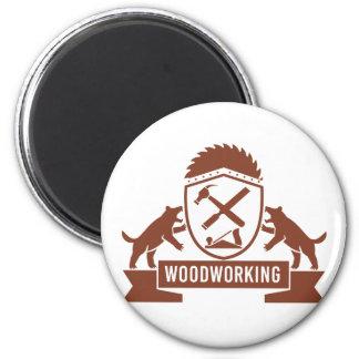 Crête de travail du bois de diable tasmanien rétro aimant