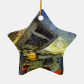 crête de Van Gogh Hong Kong Ornement Étoile En Céramique