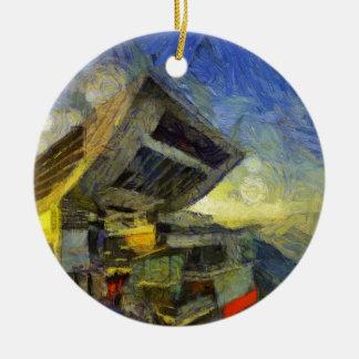 crête de Van Gogh Hong Kong Ornement Rond En Céramique