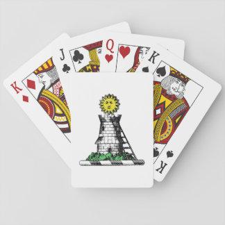Crête médiévale héraldique vintage d'emblème de jeu de cartes