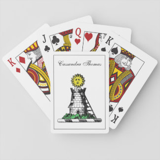 Crête médiévale héraldique vintage d'emblème de jeux de cartes