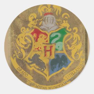 Crête rustique de Harry Potter | Hogwarts Sticker Rond