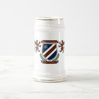 Crête Stein de famille de Higgins Chope À Bière
