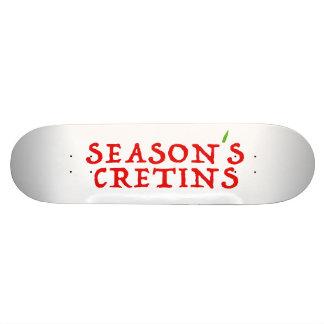 crétins du ` s de saison plateaux de planche à roulettes