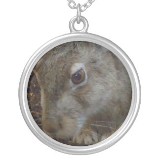 Creusement de lapin pendentif rond