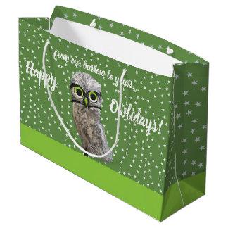 Grand Sac Cadeau Creuser des sacs de vacances de hibou