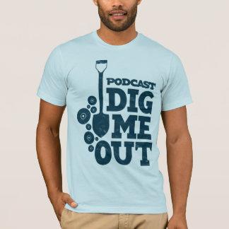 Creusez-moi a empilé le logo bleu sur le T-shirt