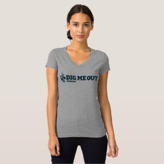 Creusez-moi le T-shirt adapté du V-Cou des femmes