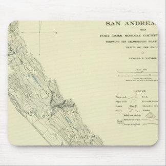 Crevasse de San Andreas près de fort Ross Tapis De Souris