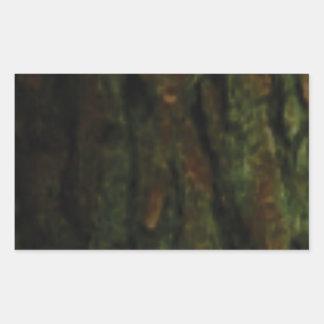 crevasses d'écorce sticker rectangulaire