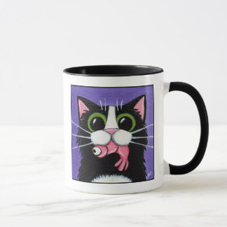 Crevette obtenue - tasse de chat