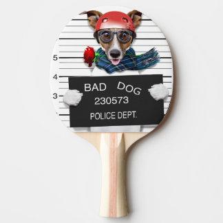 Cric drôle Russell, chien de photo Raquette De Ping Pong