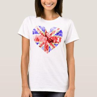 cric floral des syndicats, unionjack frais, cric à t-shirt