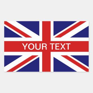Cric personalizable britannique des syndicats des autocollant rectangulaire