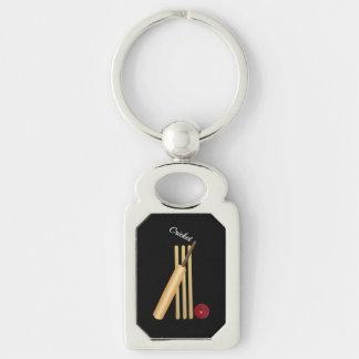 Cricket - guichet, batte et boule porte-clés