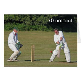 Cricket la soixante-dixième carte d'anniversaire