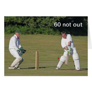 Cricket la soixantième carte d'anniversaire