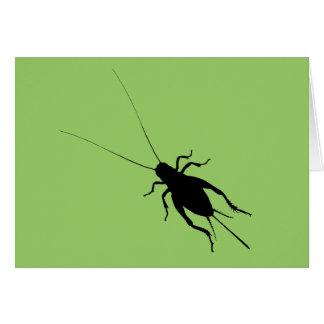 Cricket noir cartes