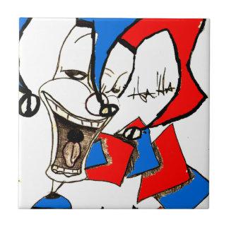 Crics dans la boîte (croquis de clown) petit carreau carré