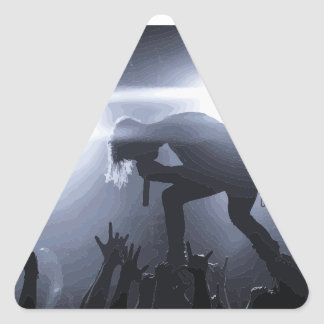 Criez-le ! sticker triangulaire