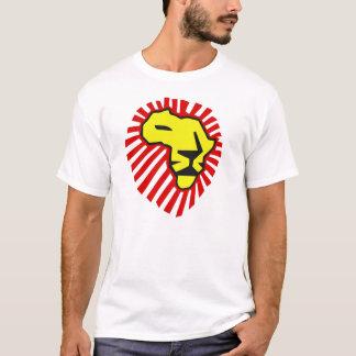 Crinière rouge de lion jaune cette fois pour la t-shirt