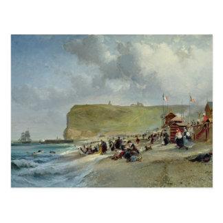 Crinolines sur la plage, Fecamp, 1871 Carte Postale