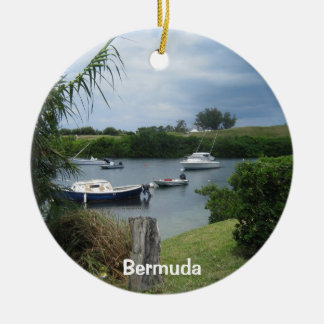 Crique #1, Bermudes Ornement Rond En Céramique