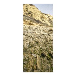 Crique en cristal carton d'invitation  10,16 cm x 23,49 cm