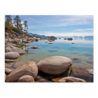 Crique tranquille sur le rivage est du lac Tahoe… Carte Postale