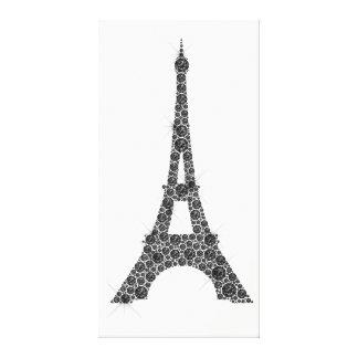 Cristal blanc noir de Paris de Français de Tour Toile