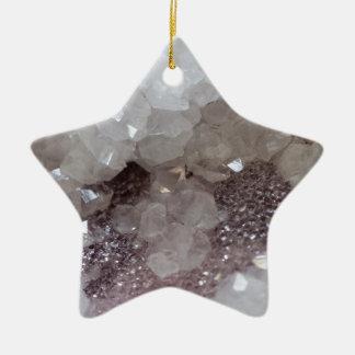 Cristal d'argent et de quartz ornement étoile en céramique